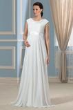 Krátke rukávy Pláž Širokým hrdlom Šerpa Elegantný Svadobné šaty