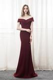 Morská panna Spandex Skladaný živôtik Zavesený Jeseň Večerné šaty