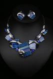 Ženy Kvety Crystal Hot predaj Silver náhrdelník