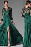 A Riadok Šperk Večierok Prírodné pása Formálne Zamiesť vlak Večerné šaty
