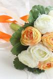 Biela pivoňka kórejské nevesty ručné huashan camellia simulácia červená svadobné kytice