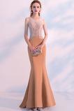 Morská panna Formálne Zimné Prírodné pása Šperk Večerné šaty