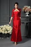Taft Elegantné Letné Zavesený Prírodné pása Členok dĺžka Matné šaty
