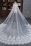 Svadobné Veil Čipka Formálne cirkev Lined Cold Lace