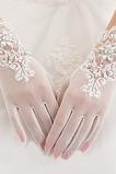 Svadobné rukavice Biela Krátka letná perla Celý prst Vhodné