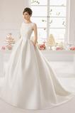 Chýbať A linka Elegantné Klenot Prírodné pása Bez rukávov Svadobné šaty