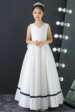 Bez rukávov Čipka Elegantné A Riadok Členok dĺžka Kvetinové šaty