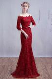 Chýbať Svadobné Námornej službe Elegantné Čipka Večerné šaty