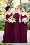 Šifón Pružina A Riadok Zdvihnúť Svadobné Elegantný Družičky šaty