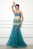 Chýbať Bez rukávov Čipkou Overlay Lopta Elegantné Večerné šaty
