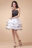 Biela Princezná Kolená Letné Bez rukávov Bez ramienok Večerné šaty