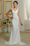 Vonkajší Elegantný Letné Klesol pasu Široké popruhy Svadobné šaty
