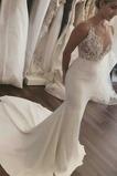 S hlbokým výstrihom Hlboký výstrih Atlas Dlhé Prírodné pása Poroka Obleko