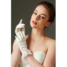 Svadobné rukavice Plná prstová čipka Ivory Short Fashion Spring