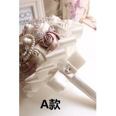 Nový jednoduchý atmosférický diamantový perlový nevesta kyticu high-end ruky
