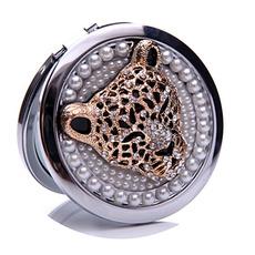 Circle Inlaid diamant Narodeniny svadobné kovové skladacie ozdoba