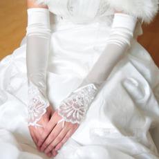 Svadobné rukavice Elegantný Taffeta Beach Apply Winter