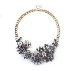Zliatina krátke módne kvety Veľkoobchod náhrdelník ozdoba