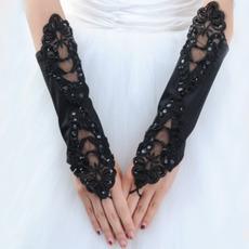 Svadobné rukavice Atraktívne jarné Pearl Taffeta Outdoor