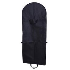 Čierna netkaná látka a obliecť veľké prachové vrecko prachové čiapky skladacie svadobné šaty