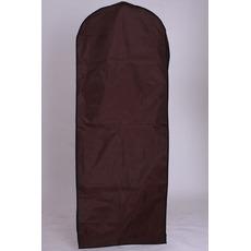 Svadobné šaty prach obal hnedé visiace svadobné šaty prachové potlač