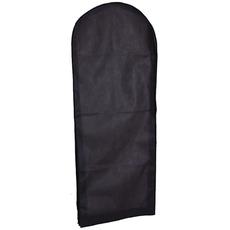 Hrubý čierny netkaný gázový šaty s prachovým krytom