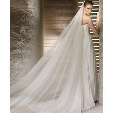 Nevesta svadobné šaty závoj mäkké priadze 3 metre dlhé a dve vrstvy mäkký závoj