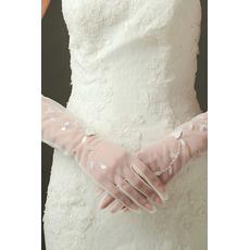 Sexy Translucent Sexy svadobné rukavice Long Shade Celý prst