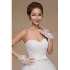Svadobné rukavice Perler Summer šortky White Thin Decoration