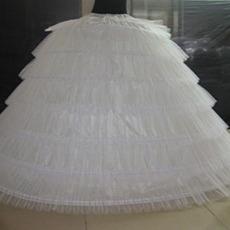 Svadobné svadobné šaty Svadobné šaty Dlhé šesť ráfikov Vintage Elastický pás