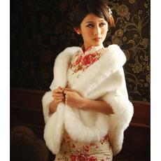 Elegantný zimný biely hrubý krištáľový kvet brošňový obdĺžnik svadobný šál