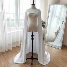 Saténový šál svadobnej šály nevesta jedinečný šál dĺžka 200CM