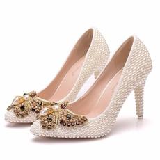 9CM perleťové vysoké podpätky ihlové topánky na spoločenské topánky