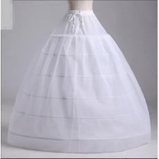 Sviatočné svadobné šaty Dva zväzky silné sieťové svadobné šaty Dlhé šesť ráfikov