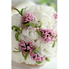 Simulácia kytice kytice nevesty družičky svadobné ručné kytice