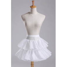 Svadobné šaty s módnym priemerom Elastický pás Krátke šaty