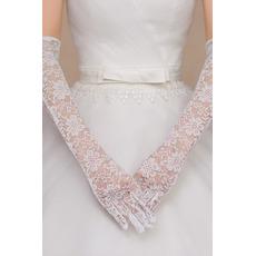Svadobné rukavice Čipka Fabric slávnostná čipka Plný prst