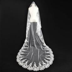 Svadobný závoj jeseň Glamour Aplikovať svadobné šaty bohyne
