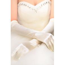 Svadobné rukavice Súhrn Taffeta Long Church Full Finger Spring