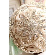 Diamond svadobné perla svadobné fotografie rozloženie dekorácie nápady drží kvety