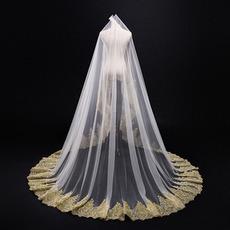 Svadobné závoje 3M Golden Lace Veil Svadobné závojové Svadobné závoje
