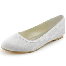Čipkované svadobné topánky ploché tehotné ženy svadobné topánky pohodlné nízke podpätky