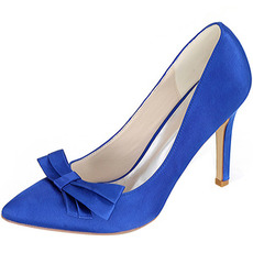 Saténová mašľa so svorkami na podpätku princeznej topánky svadobné topánky