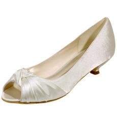 Svadobné topánky rybie ústa, svadobné topánky, saténové topánky
