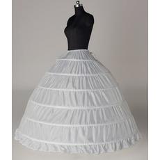 Svadobné šaty Šesť ráfiky Rozbaliť šnúrku Šírka Celé šaty Nastaviteľné