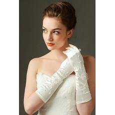 Svadobné rukavice Vhodná plná prstová saténová vyšívanie za studena