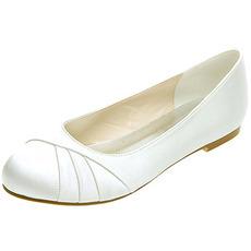 Ploché skladané saténové dámske topánky banket výročné svadobné topánky