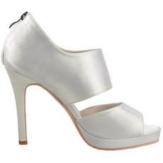 Sexy saténové topánky na podpätku s vysokými podpätkami