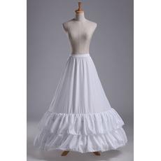 Svadobné Petticoat Lace zdobenie Svadobné šaty Dlhá polyesterová taftová