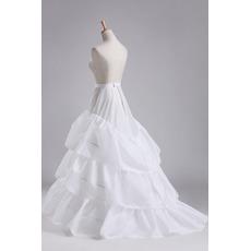 Svadobné kytice Tromi okrajmi Celé šaty Priemer Elegantná polyesterová taftová